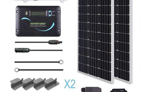 200 Watt 12 Volt Solar Rv Kit Solar Power Panels Solar Energy Panels Solar Energy