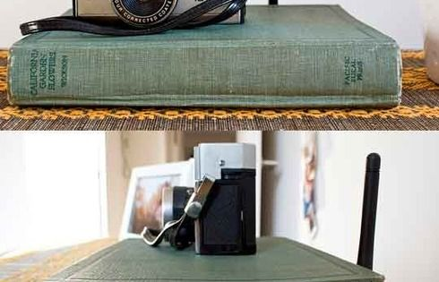 Brilliant - hide a wireless router in a vintage book cover!