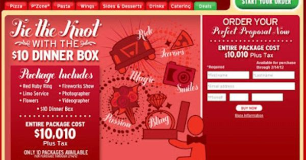 10 000 Pizza Hut Pizza Pizza Hut Has This Valentine S Day Box For 10 And It Includes Some Pizza And Bread Sticks And Pizza Hut Dinner Box Marriage Proposals