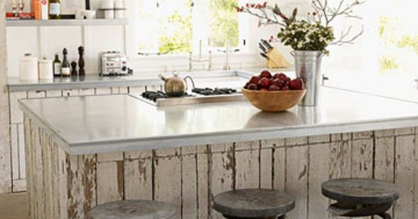 Cool idea- repurposed kitchen stools from old truck springs. kitchen island stools