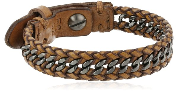 """Amazon.com: Fossil """"Sun Up Sun Down"""" Men's Leather and ..."""