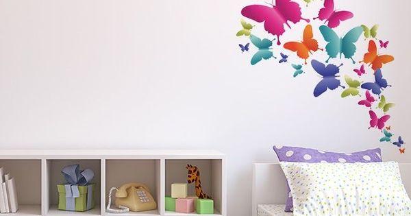 Bandada de mariposas space to print vinil para - Mariposas para pared ...