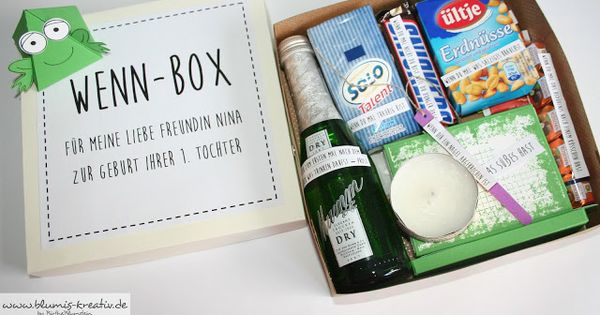 blumis kreativ blog wenn box als geschenk f r meine liebe freundin zur geburt ihrer tochter. Black Bedroom Furniture Sets. Home Design Ideas