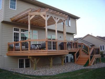 Raised Deck With Pergola Deck With Pergola Pergola Patio Pergola
