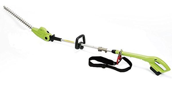 Garden Gear 18v Telescopic Cordless Hedge Trimmer Long Reach Extendable 2 45m Adjustable Head Lithium Ion Battery Hedgetrimmer Gardening Gear Garden Power Tools Hedge Trimmers