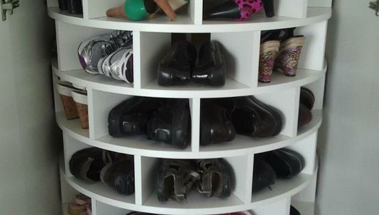 Lazy Susan for shoes. In a future home, when I have space