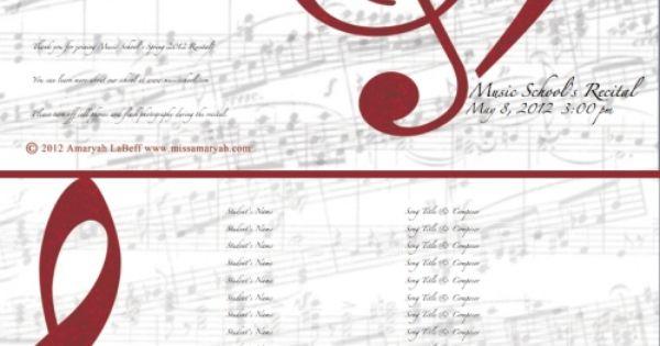 free customizable recital or school program templates