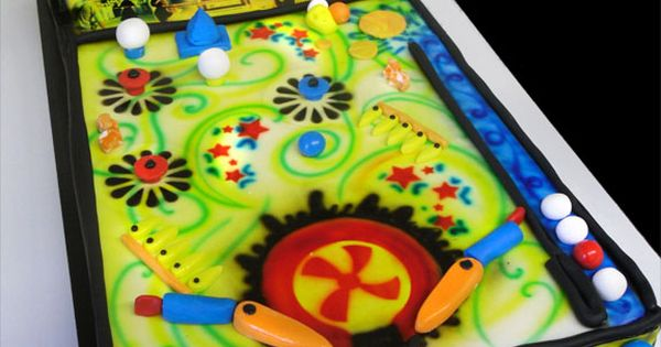 Pinball cake birthday cake ideas pinterest pinball for Anpanman cake decoration