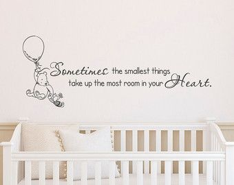 Classic Winnie The Pooh Wall Decals Quotes Sometimes The Smallest Things Winnie The Pooh And Piglet W Nursery Wall Stickers Nursery Decals Nursery Wall Decals