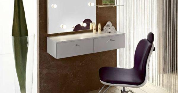 meuble coiffeuse en blanc et en d autres couleurs 30 id es inspirantes coiffeuse blanche. Black Bedroom Furniture Sets. Home Design Ideas