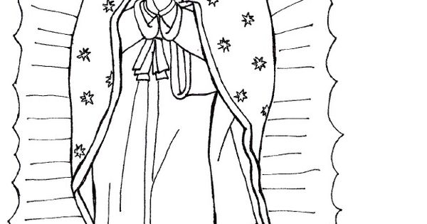 pin dibujos para colorear virgen guadalupe on pinterest