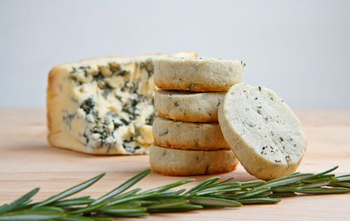 Stilton Rosemary Shortbread. Why yes, I'm on a savory shortbread kick right