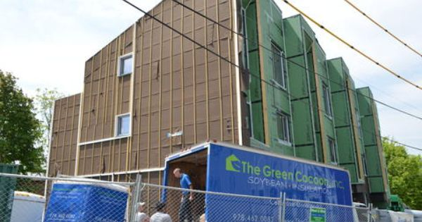 The Green Cocoon Inc Soy Based Spray Foam Cellulose And Denim Insulation Salisbury Ma Home Insulation Insulation Eco Friendly House