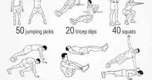 cant get to a gym  do your workout at home  try this