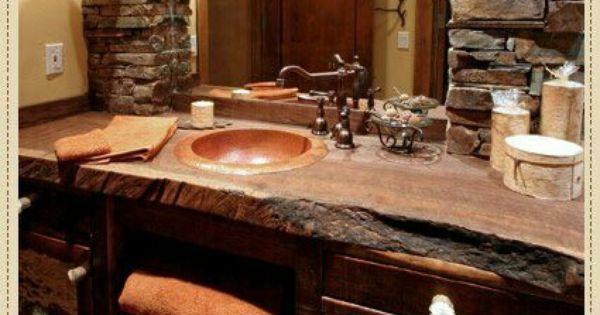 44 Reclaimed Wood Rustic Countertop Ideas Sinks Bath