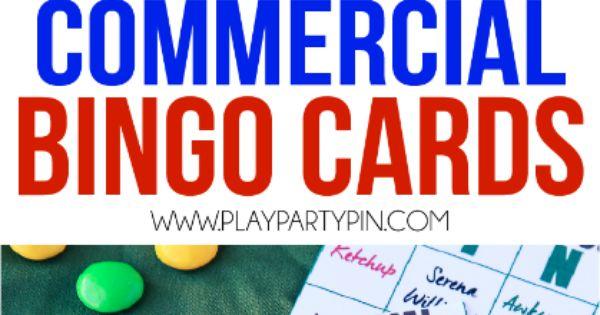 2016 Super Bowl Commercial Bingo and Party Ideas | Super Bowl Party ...