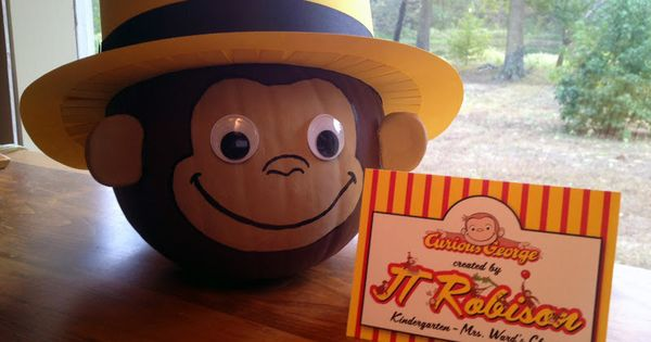 Download Curious George Face Template - Curious George ...  Download Curiou...