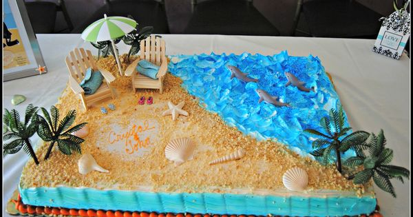 5 Ideas For A Great Beach Themed Wedding In Puglia: Beach Theme Bridal Shower Cakes