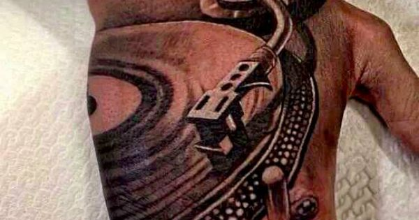 dj tattoo turntable music tattoos pinterest dj tattoo tattoo and music tattoos. Black Bedroom Furniture Sets. Home Design Ideas