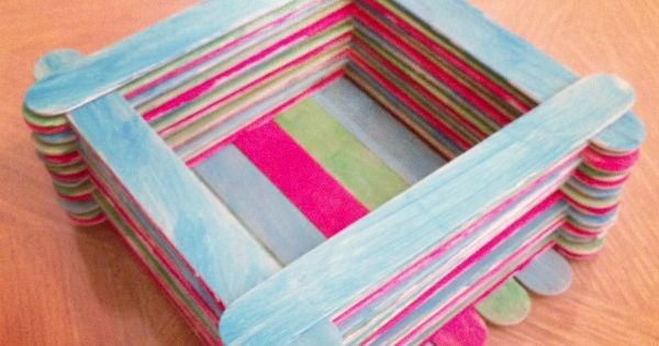 DIY craft boxes | DIY Treasure Box Kid's Craft Made with Popsicle