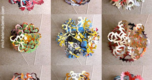 Great idea!! DIY Junk Mail Snowflakes by michelemademe DIY Paper_Snowflakes
