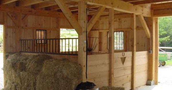 Country Carpenters Horse Barn Kit Interior View Click