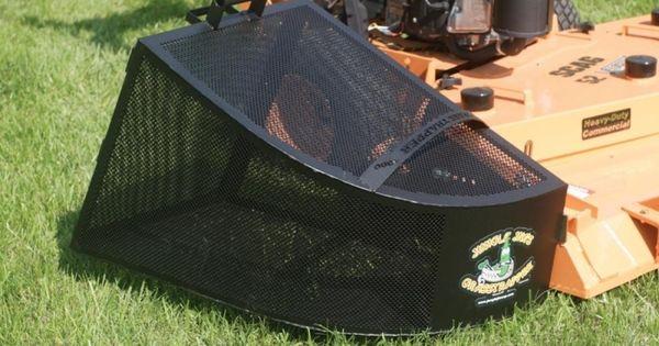 Lawn Mower Foot : Jungle jim gt cubic foot grass trapper
