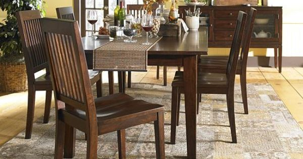 I love the marley table chairs from havertys for holiday for Dressing a dining room table