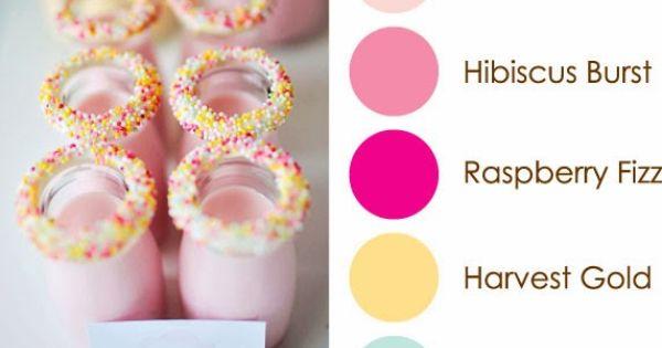 Hibiscus, Blush and Raspberries on Pinterest