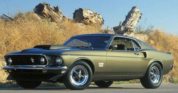1969 Boss 429 Mustang in Black Jade. | Ford Mustang Boss ...