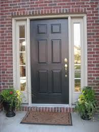 Black Garage On Red Brick House Google Search Brick House Front Door Colors Painted Front Doors Brick Exterior House