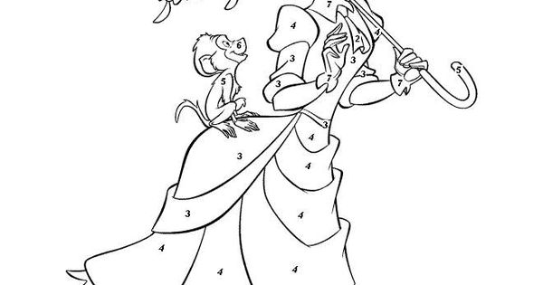 color by number disney Colouring Pages | Color by Number ...
