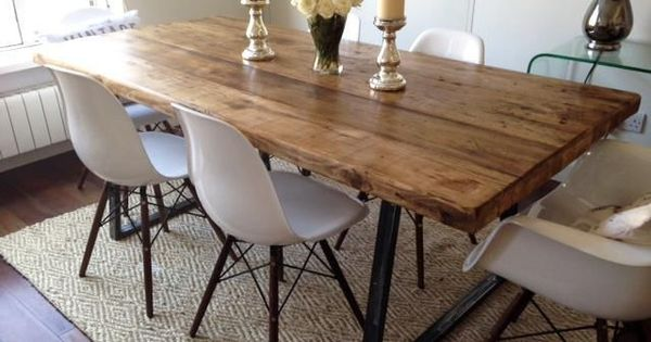 Vintage Industrial Rustic Reclaimed Plank Top Dining Table  : 2c9ee81dfb58d2431e819be25d13e4b1 from www.pinterest.com size 600 x 315 jpeg 36kB