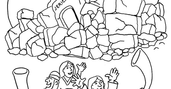 joshua fought the battle of jericho coloring pages ...
