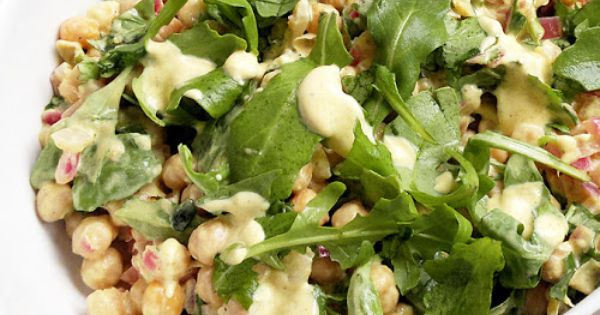 Pan-fried Chickpea Salad with Curried Yoghurt Dressing © www ...
