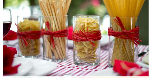 Budget Centerpiece Ideas for an Italian Dinner Theme You can use these