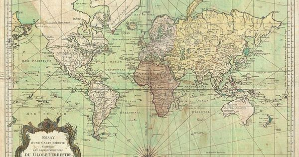 File:1778 Bellin Nautical Chart or Map of the World ...