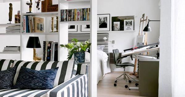 d corer un petit appartement 45m2 home pinterest petits appartements et appartements. Black Bedroom Furniture Sets. Home Design Ideas