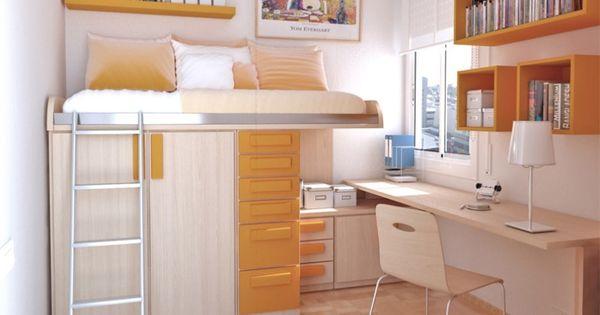 Resultado de imagen para camas altas con armario debajo - Camas con armario debajo ...