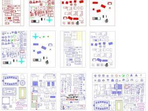 Remarquable Nouvelle bibliothèque de bloc Autocad en dwg | Autocad MU-53