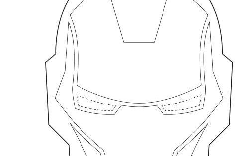 Iron Man Mask Template Printable Cakepins Com Foods