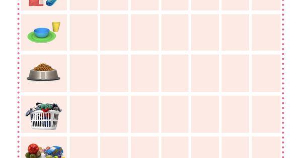 princess chore chart | Girly-bug Stuff! | Pinterest ...