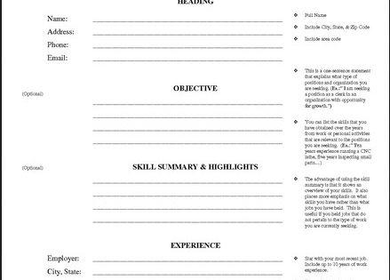 Printable Resume Worksheet Free Http Jobresumesample