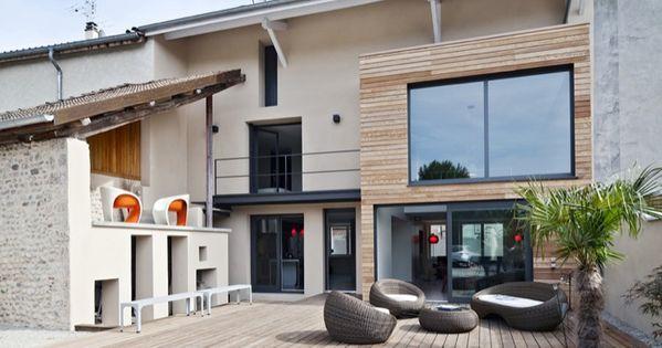 r novation d 39 une maison de village architecture facades and house extensions. Black Bedroom Furniture Sets. Home Design Ideas