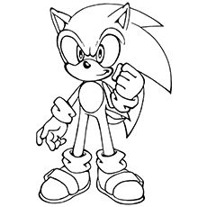 sonic( video games& ndash; printable coloring pages