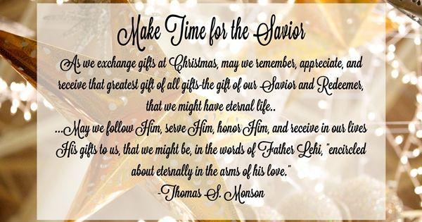 December 2016 HT: Make Time for the Savior | Home Teaching ...