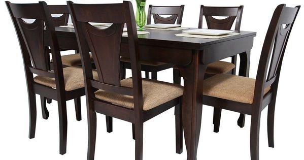 Equipa Tu Cocina Con Este Comodo Y Elegante Juego De Comedor Para 6 Personas Modelo Nelso Muebles De Comedor Modernos Muebles De Comedor Sillas Comedor Madera
