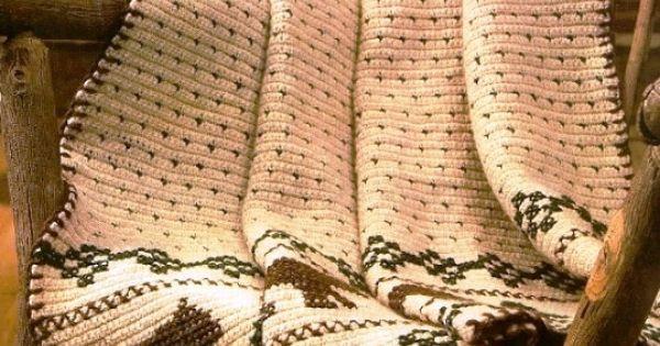 X246 Crochet PATTERN ONLY Rustic Lodge Bear Motif by ...