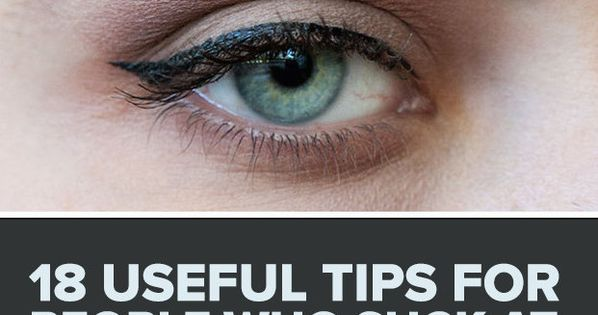 18 Useful Tips For People Who Suck At Eyeliner - Forget wings: