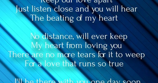 long distance love poems for him from the heart love